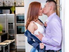 Hot Romanian redhead Aylin Diamond gives Sabby a steamy reward fuck