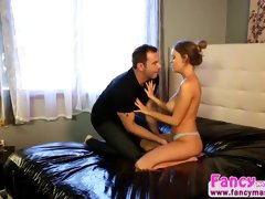 Lustful and brunette Alexis Adams gets fucked hard by Steven