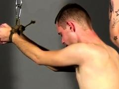Emo barefoot bondage gay Slave Boy Fed Hard Inches