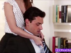 Sexy Secretary Brooklyn Chase fucked hard with a big cock of his boss