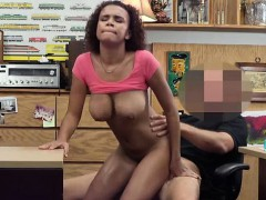 Beautiful babe fucked in the pawnshop