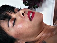 Sexy brunette ex dana vespoli fucked by masseur