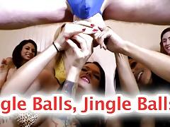 CFNM Hanging Bull Balls FEMDOM