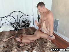 ExxxtraSmall - Tiny Teen Drinks Jizz To Grow Tall