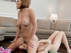 Regular fitness class quickly turned into a hot lesbian pussy licking and fingering