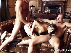 French Cheating Milf and double cock sandwich