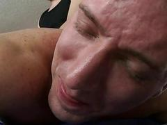 Stud is delighting twink with soaked oral