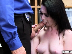 LP Officer screwing Athena Rayne on top of his cock