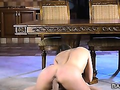Hard fucking of young and flexible babe Blue Angel