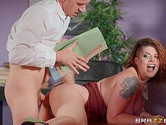 A really hot amateur fuck play with the new secretary