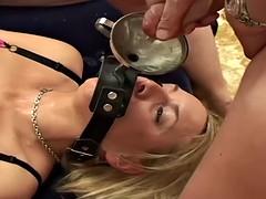 Random cum swallowing slut getting their faces covered in cum