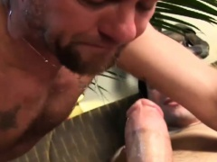 Christian Matthews blows Christop with a piggy and sloppy BJ