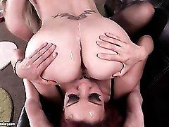 Fucking Natalia Starr and Ava Devine makes him cum