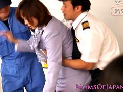 Japanese milf fingered while squirting