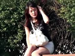 Japanese amateurs drop their panties and pee in public