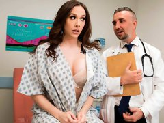 Amazingly hot mommy Chanel Preston impaled in the cowgirl pose