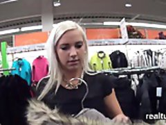 Beautiful czech cutie gets seduced in the mall and screwed i