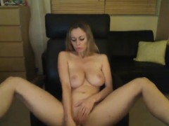 Really sizzling blonde stunner with huge stand wanking toge