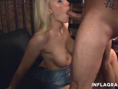 German slut wants to take and blow that stiff cock and get it between her sexy legs in different poses from this hunk