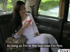 Naughty babe pounded by a fake taxi driver