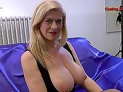 Mature porn slut interviews and takes a load in her mouth
