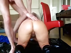 Homemade doggystyle anal fuck