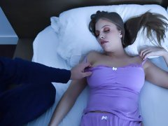 Impressive night sex in the bedroom with a busty MILF Britney Amber