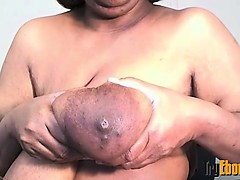 Black BBW mother fucks hairy vagina