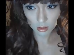 Doll-Faced Tranny in a Hot and Sexy Lingerie