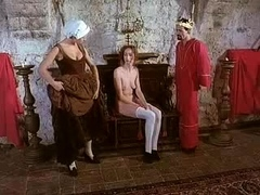 Medieval king and queen invite the hot maid for a threesome