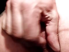 Wichsen und Abspritzen mit Cockring