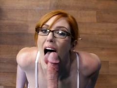 Redhead secretary tittyfuck and cumshot