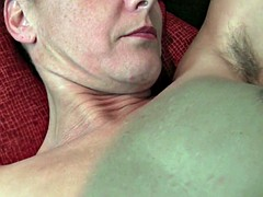 hairy pussy mature mom gets the finger fuck treatment