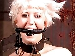 Blonde slave bitch is happy to be disciplined BDSM movie