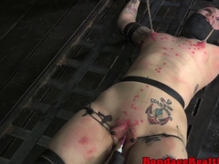 BDSM sub Mollie Rose wax play