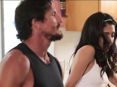 Slutty teen Angel Del Rey deeply banged by her stepdad