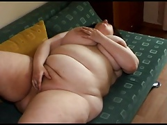 Very horny Fat BBW ex GF playing with her plump shaven pussy