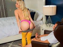 Lustful blonde with round ass Khloe Kapri cheats on her boyfriend