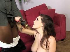 Noelle Easton tries a big cocked black guy