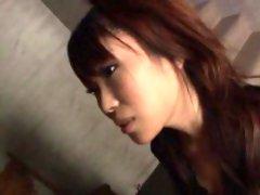 Saya Natsukawa blows cock until the last drop of jizz