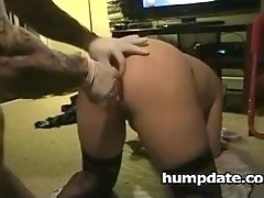 Kinky babe gets her ass stretched and toyed