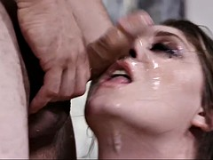 very sloppy head and a messy facial by a hot brunette jojo kiss