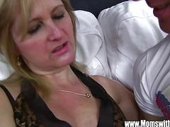 Mature Maid Fucks Boy On Sofa With Porn