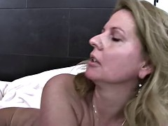 Cougar fucks after she caught her stepson jerking