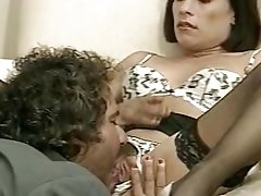 Italian retro brunette watches her boyfriend fucking hard retro blonde