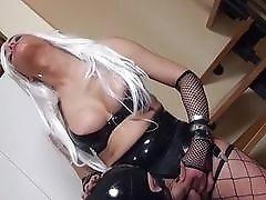 Yummy blonde demands her sex slave to suck her right