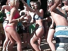 Dance with hot babes on spring break