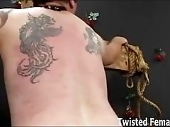 Lot of pain for slave with mouse traps BDSM porn