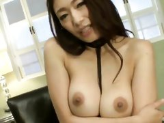 After making her lover cum, the Japanese cooze starts playing with her pussy