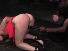 Tiedup sub whore gets pussyhole punished